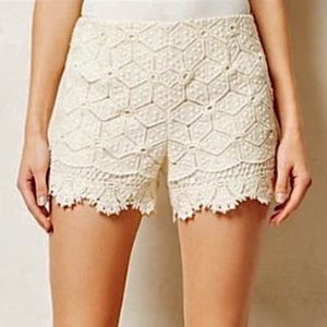 Anthropologie Dolce Vita Lace Shorts Scalloped